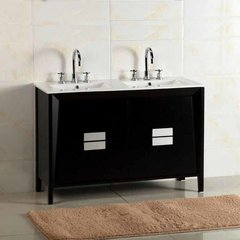 "48"" Double Sink Bathroom Vanity - Dark Espresso/White Top"