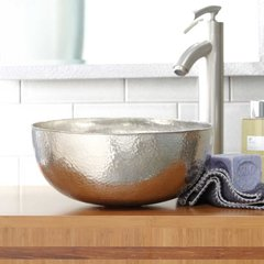 "12-1/2"" Round Maestro Petit Vessel Sink - Brushed Nickel"