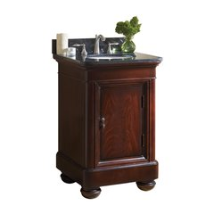 "24"" Mount Vernon Single Sink Vanity w/ Black Top - Merlot"