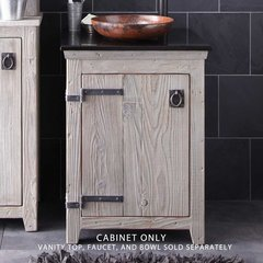 "24"" Americana Single Vanity Cabinet Only w/o Top - Driftwood"