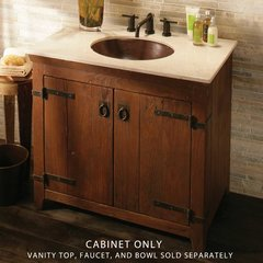 "36"" Americana Single Vanity Cabinet Only w/o Top - Chestnut"