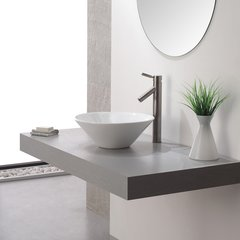 Sheven Vessel Bathroom Faucet - Satin Nickel