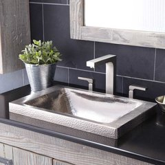 "20"" x 13"" Hana Drop-In Bathroom Sink - Brushed Nickel"