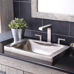 "20"" x 13"" Hana Drop-In Bathroom Sink - Brushed Nickel"