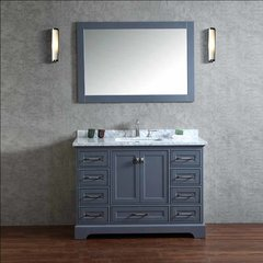"48"" Chanel Single Vanity - Gray/Carrara White Top"