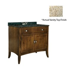"30"" Metro Single Sink Vanity w/ Gold Top - Brown Cherry"