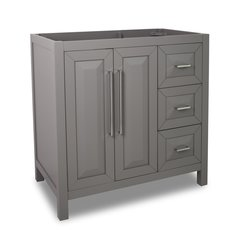 "36"" Cade Contempo Single Cabinet Only w/o Top - Gray"