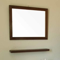 "23"" x 31"" Wall Mount Mirror - Dark Walnut"