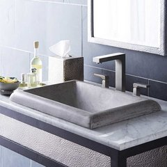 "21-1/2"" x 15-1/2"" Montecito Drop-In Bathroom Sink - Ash"