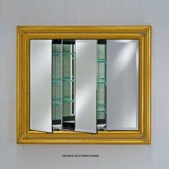 """Vanderbilt 51"""" Medicine Cabinet - Baroque Antique Silver"""