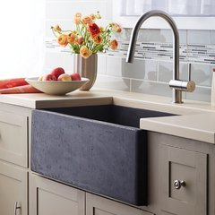 "30"" x 18"" Farmhouse NativeStone Apron Front Sink - Slate"