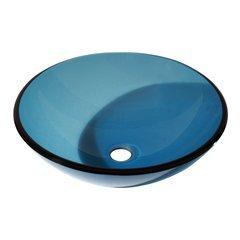 "16-1/2"" Diameter Round Vessel Bathroom Sink - Blue"
