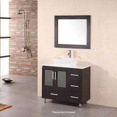 "36"" Stanton Single Vessel Sink Bathroom Vanity - Espresso"