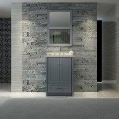 "25"" Adams Single Sink Bathroom Vanity - Gray"