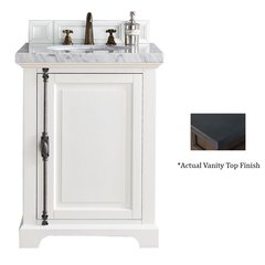 "26"" Providence Vanity w/ Black Polished Top - Cottage White"