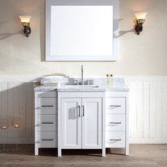 "49"" Hollandale Single Sink Bathroom Vanity - White"
