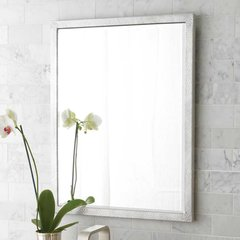 "20"" x 25"" Divinity Wall Mount Mirror - Brushed Nickel"