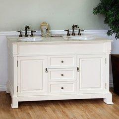 """60"""" Double Sink Bathroom Vanity - Cream White/Cream Top"""