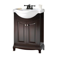 "26"" Palermo Single Sink Euro Bathroom Vanity - Espresso"