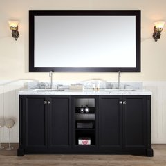 "73"" Westwood Double Sink Bathroom Vanity - Black"