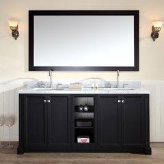 """73"""" Westwood Double Sink Bathroom Vanity - Black"""
