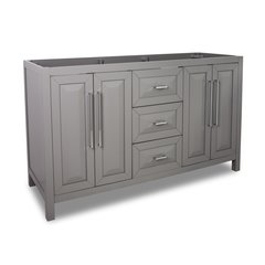 "60"" Cade Contempo Double Cabinet Only w/o Top - Gray"