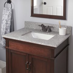 "25"" x 19"" Single Bowl Vanity w/ Trough Basin - Napoli"