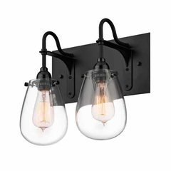 Chelsea 2 Light Bathroom Vanity Light - Satin Black