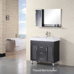 "36"" Milan Single Sink Bathroom Vanity - Espresso"