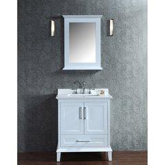 "30"" Seacliff Nantucket Single Sink Vanity - Alpine White"