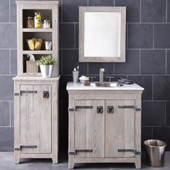 """30"""" Americana Single Sink Bathroom Vanity Suite - Driftwood"""