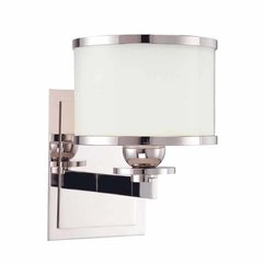 Basking Ridge 1 Light Bathroom Sconce - Polished Nickel