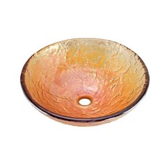 "16"" x 5-1/2"" Vessel Bathroom Sink - Gold Reflections"