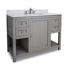 "48"" Astoria Modren Single Sink Bathroom Vanity - Gray"