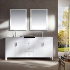 "72"" Hanson Double Sink Bathroom Vanity - White"