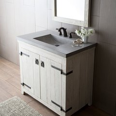 "36"" Americana Single Sink Bathroom Vanity Suite - Whitewash"