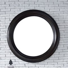"40"" x 40"" Vancouver Wall Mount Mirror - Cerused Ebony Oak"