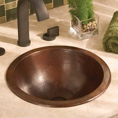 "13-3/4"" Paloma Universal Bathroom Sink - Antique Copper"