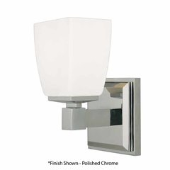 Soho 1 Light Bathroom Sconce - Satin Nickel