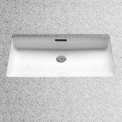 "23"" x 14"" Undermount Bathroom Sink - Colonial White"