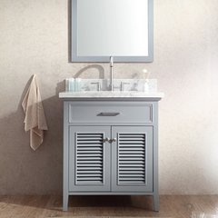 "31"" Kensington Single Sink Bathroom Vanity - Gray"