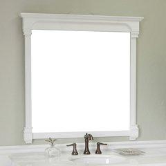 """41"""" x 42"""" Wall Mount Mirror - White"""
