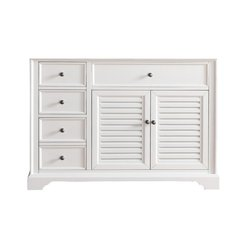 "48"" Savannah Single Cabinet only w/o Top - Cottage White"