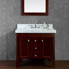 "36"" Greenbrier Single Sink Bathroom Vanity - Walnut"