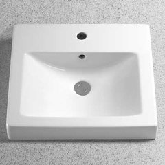 "20"" x 18"" Drop In/Self Rimming Bathroom Sink - Cotton Whit"