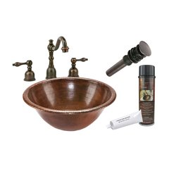 "17"" x 17"" Round Drop-In Sink Package - Oil Rubbed Bronze"