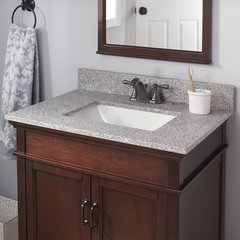 25 x 22 Inch Single Bowl Vanity Top Only with Trough Basin - Napoli
