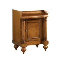 "24"" Guild Hall Single Cabinet Only w/o Top- Distressed Pecan"