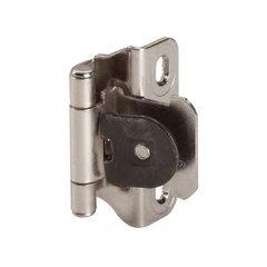 Single Demountable 1/4 inch Overlay Hinge Nickel-Pair