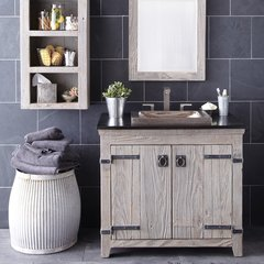 "36"" Americana Single Sink Bathroom Vanity Suite - Driftwood"